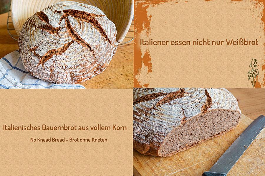 Italienisches Bauernbrot-Brot ohne Kneten Rezept