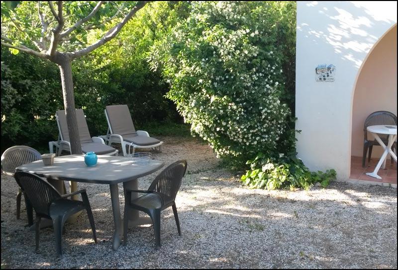 private garden of gite