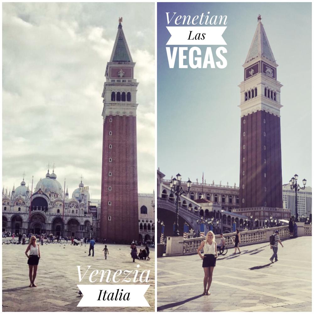 Links: Piazza San Marco, Venezia - 10. August 2017 :: Rechts: Venetian, Las Vegas, 27.September 2017