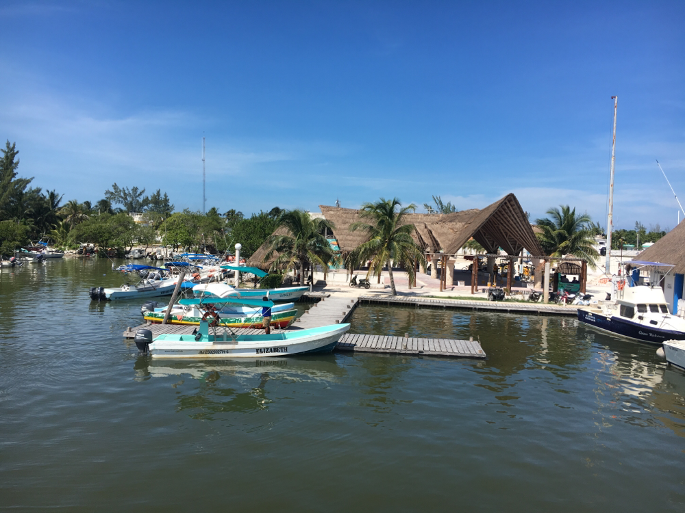 Anlegen in Holbox