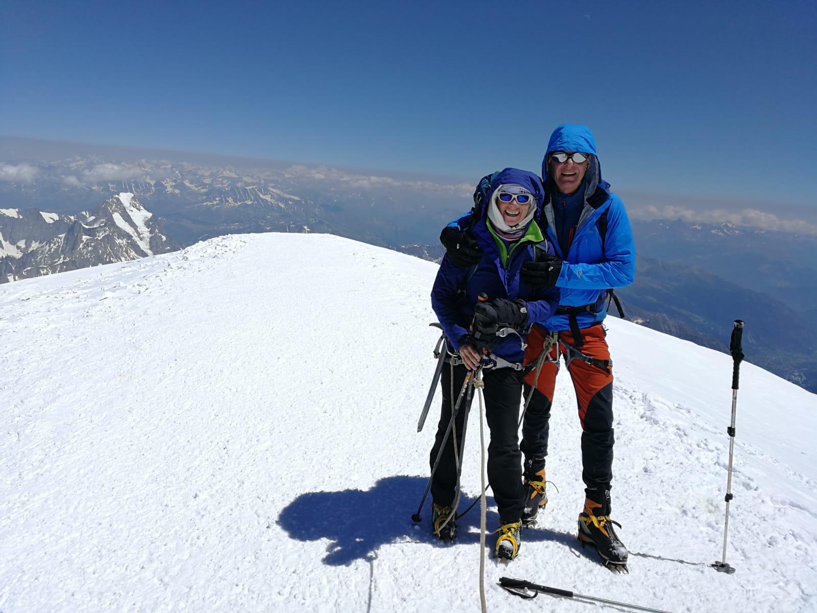 Beau temps et belles conditions, de longues minutes au sommet