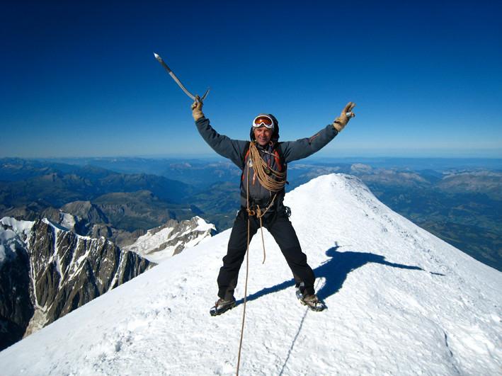 C.Ducroz au sommet du Mont Blanc