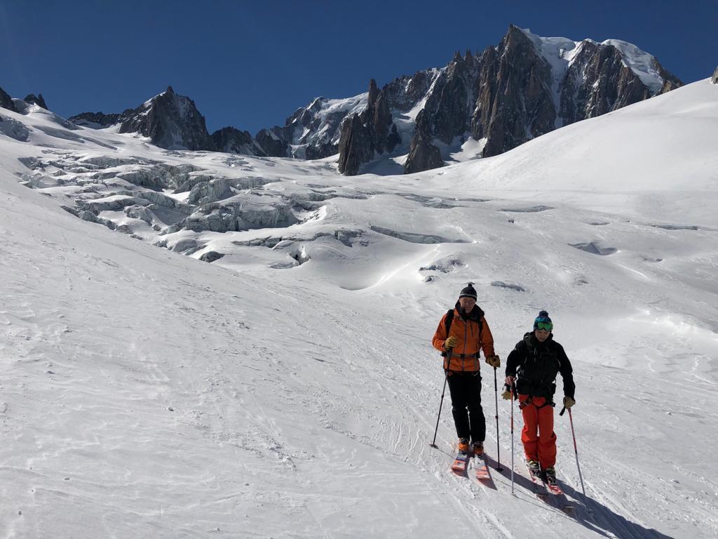 Peter et Chris sur le Glacier du Géant