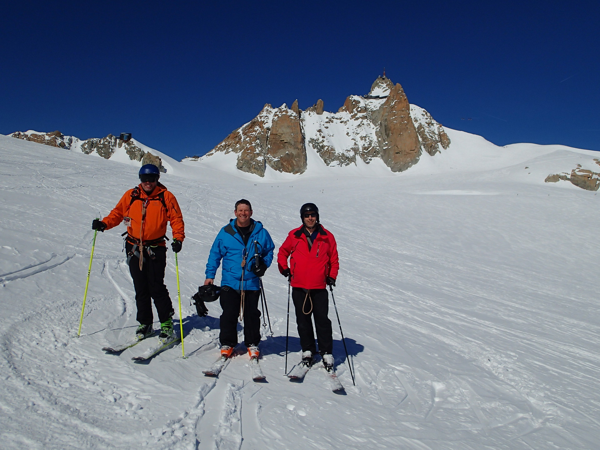 Jeff, John et David à la pause au Col du Gros Rognon