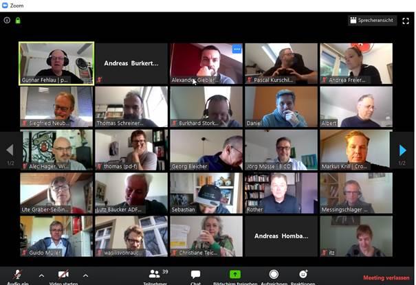 Experten aus Fahrradhandel, Fahrradverbänden und Fachjournalisten im Video-Chat ©Velototal