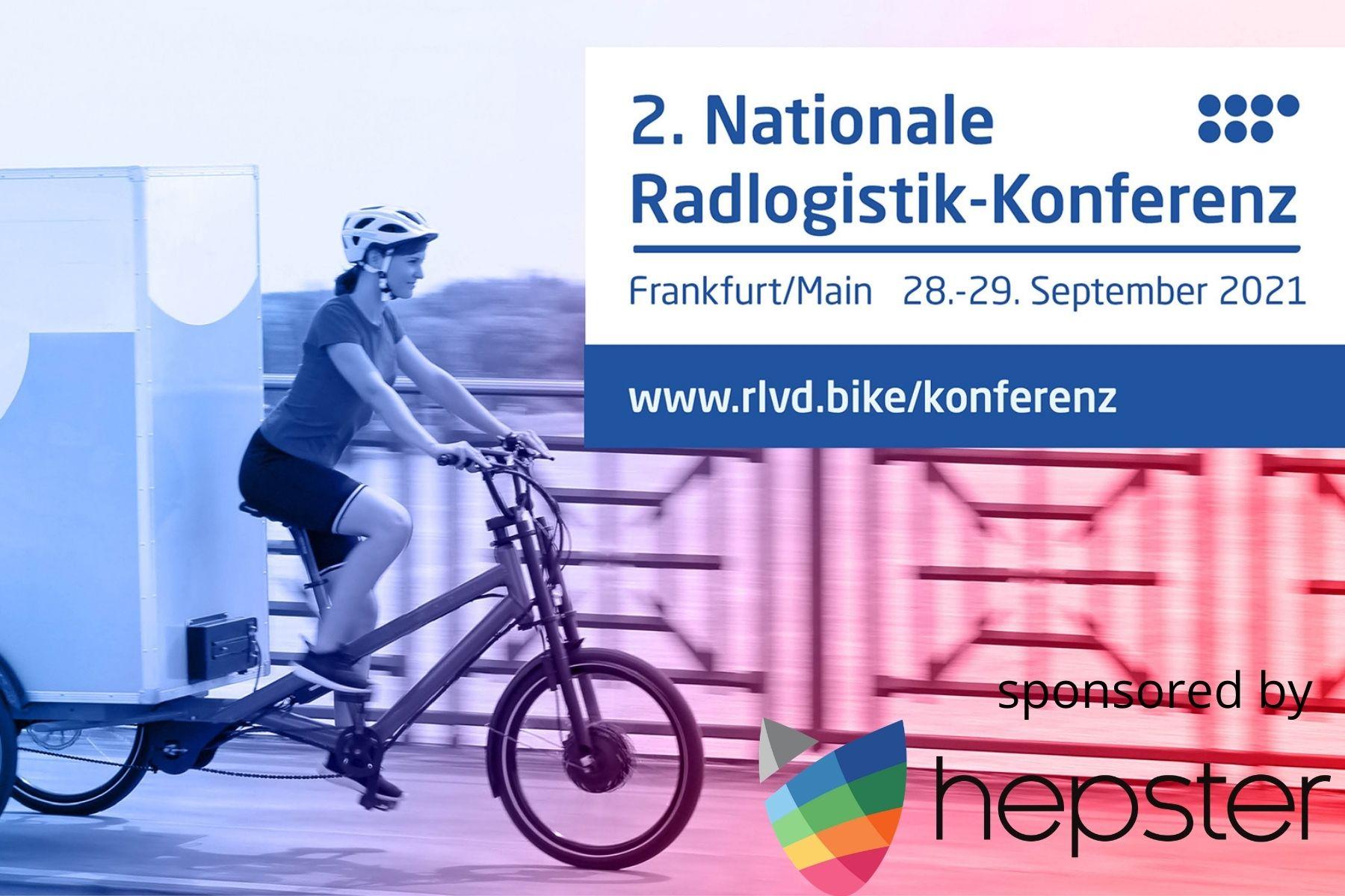 hepster ist Sponsor der Nationalen Radlogistik-Konferenz des RLVD