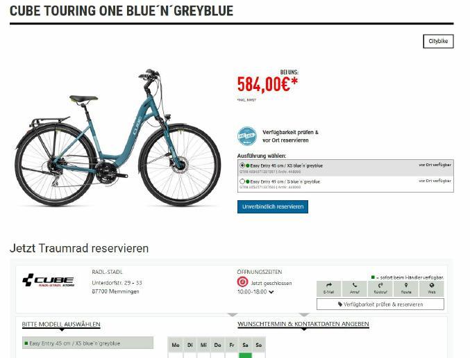 """""""BikeInfo""""-Katalog jetzt mit Fahrrad-Reservierung"""