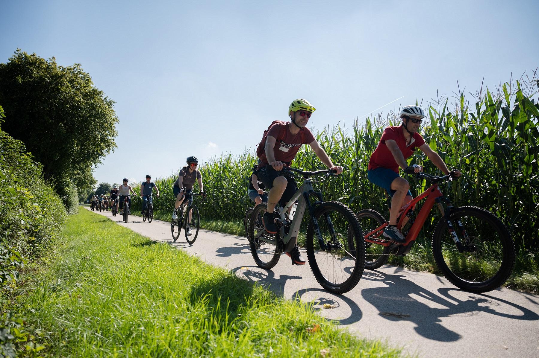 Tourismus Oberbayern München e.V. lud am 6. September zur gemeinsamen Radtour zur IAA Mobility ein