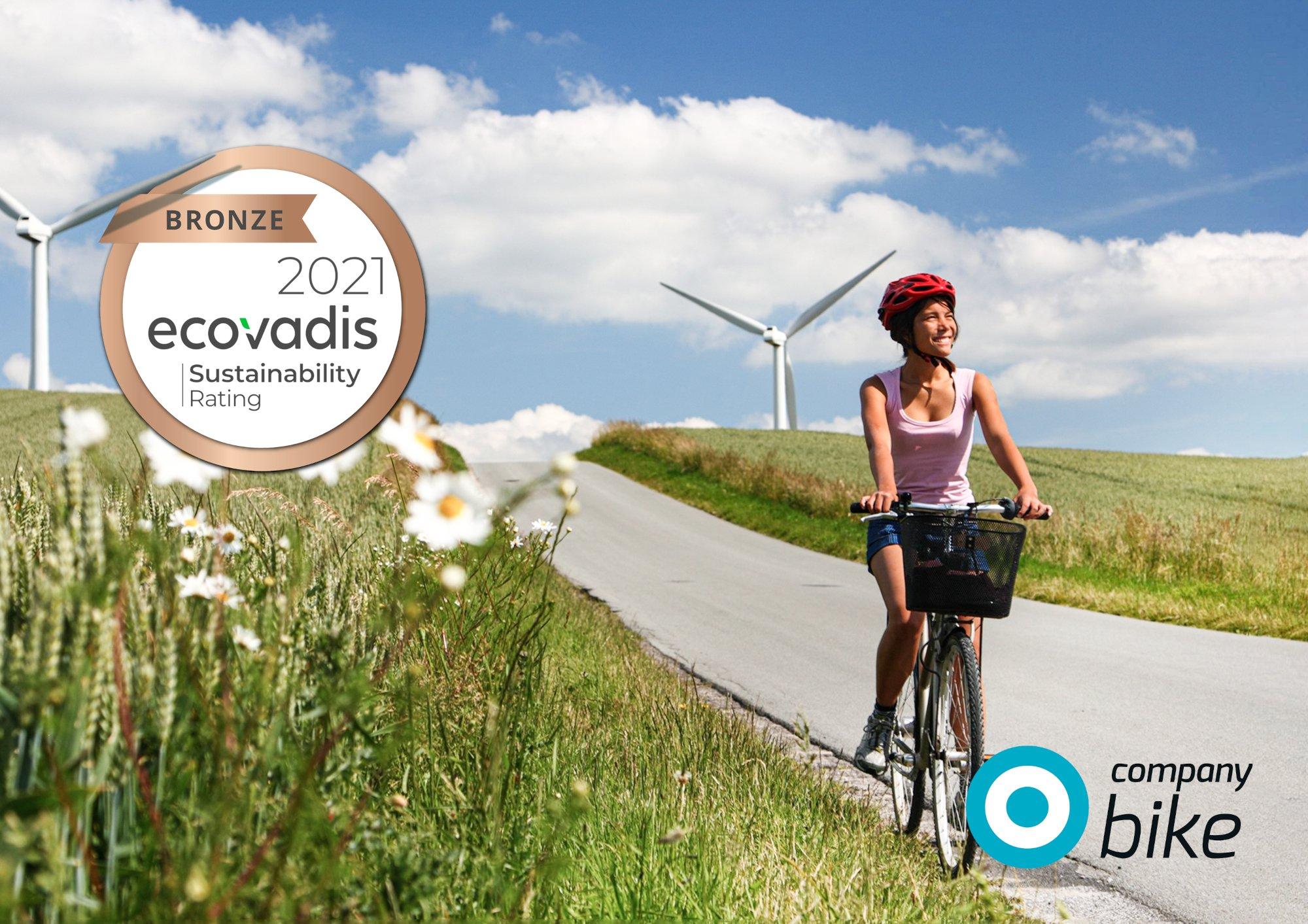 Sozial & nachhaltig: Company Bike erhält EcoVadis-Zertifizierung