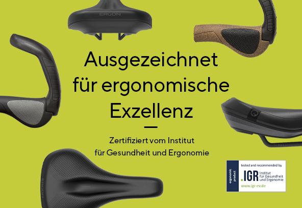 Ergon wurde für seine ergonomischen und rückenfreundlichen Produkte vom IGR ausgezeichnet.