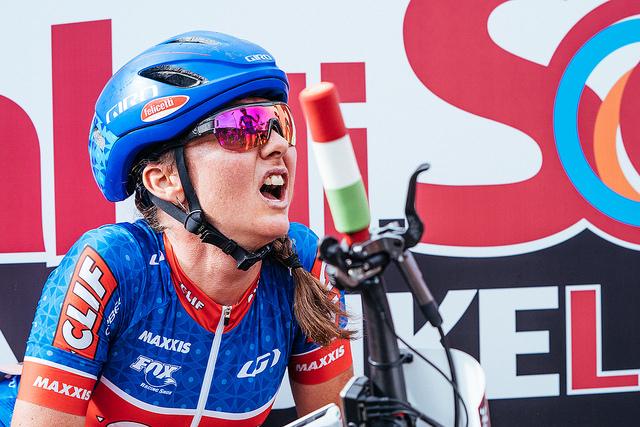 Foto (Matt DeLorme): Eva Lechner kämpft sich nach ihrem Freizeitunfall langsam in die Weltspitze zurück