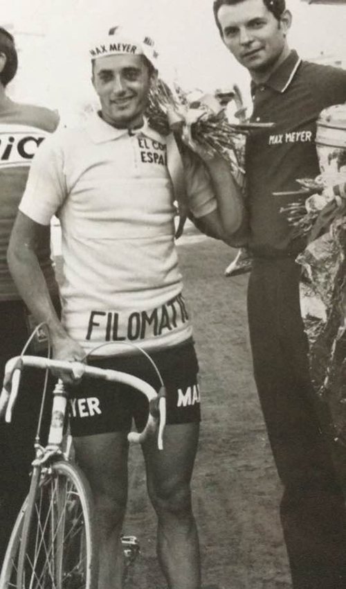 """Erminio Bolgiani als Chef der Profimannschaft """"May Meyer"""" in den 1960er Jahren (Foto: Archiv Bolgiani)"""