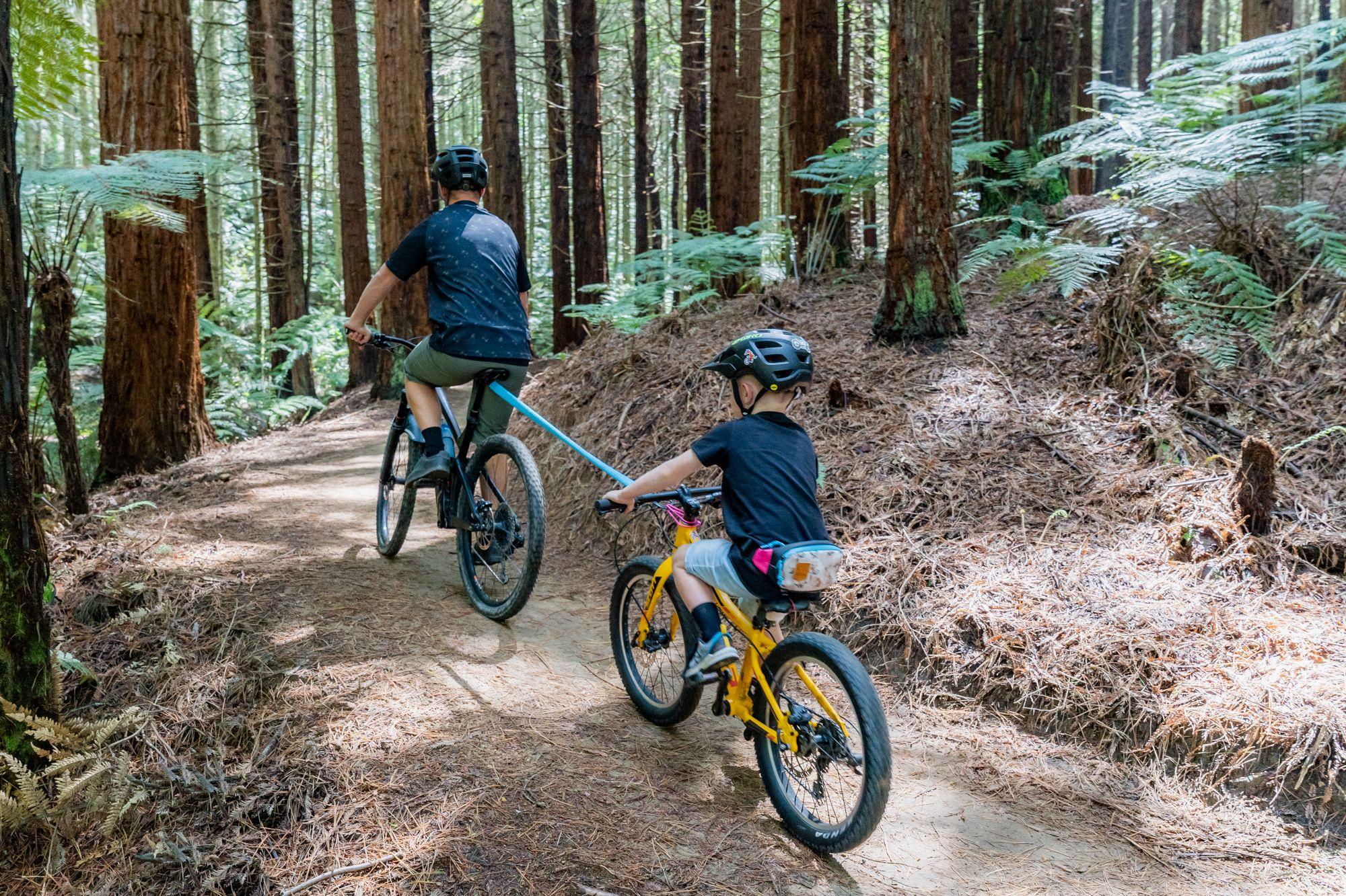Neuseeländische Marke Kids Ride Shotgun - MTB Tow Rope