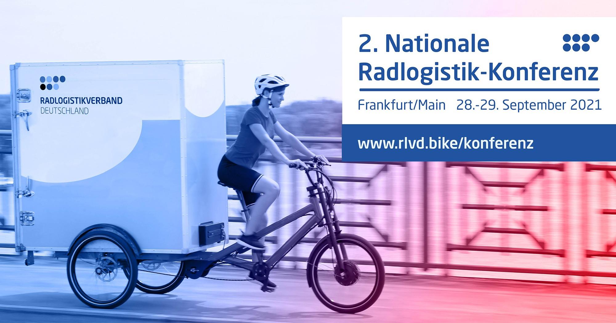 2. Nationale Radlogistik-Konferenz im September 2021 in Ffm
