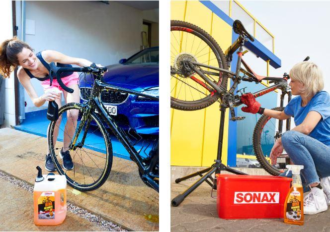 Sonax Bike-Reiniger im 5l-Kanister und der 750ml-Sprühflasche