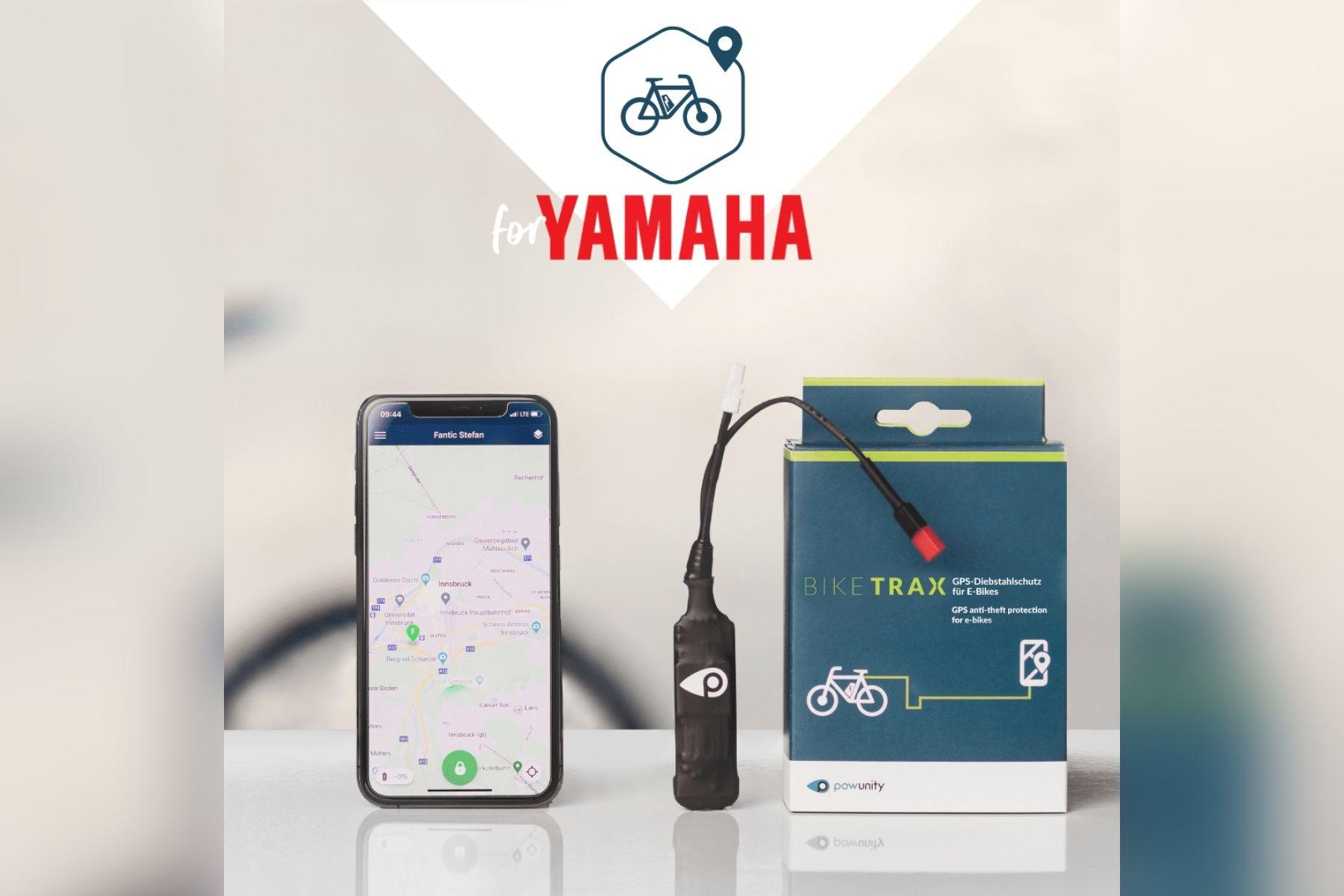 BikeTrax GPS-Tracker für alle E-Bikes mit Yamaha-Motoren erhältlich