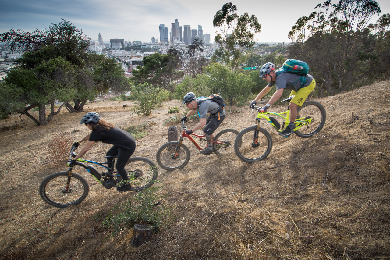 SQlab TransAngeles Urban Adventure film release mit Hans Rey, Missy Giove and Timmy C / Bild: Bill Freeman