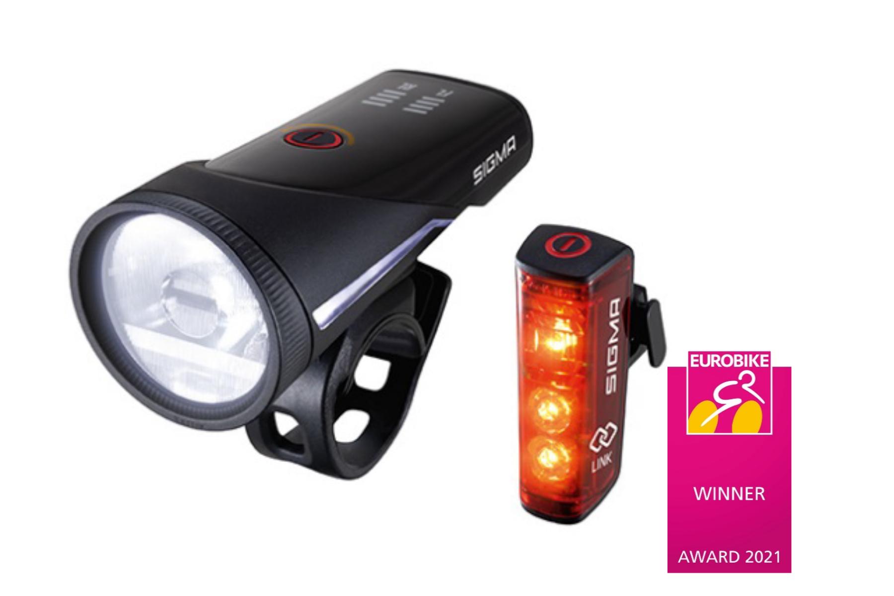 Strahlender Sieger: AURA 100 / BLAZE LINK Set von SIGMA SPORT gewinnt Eurobike Award