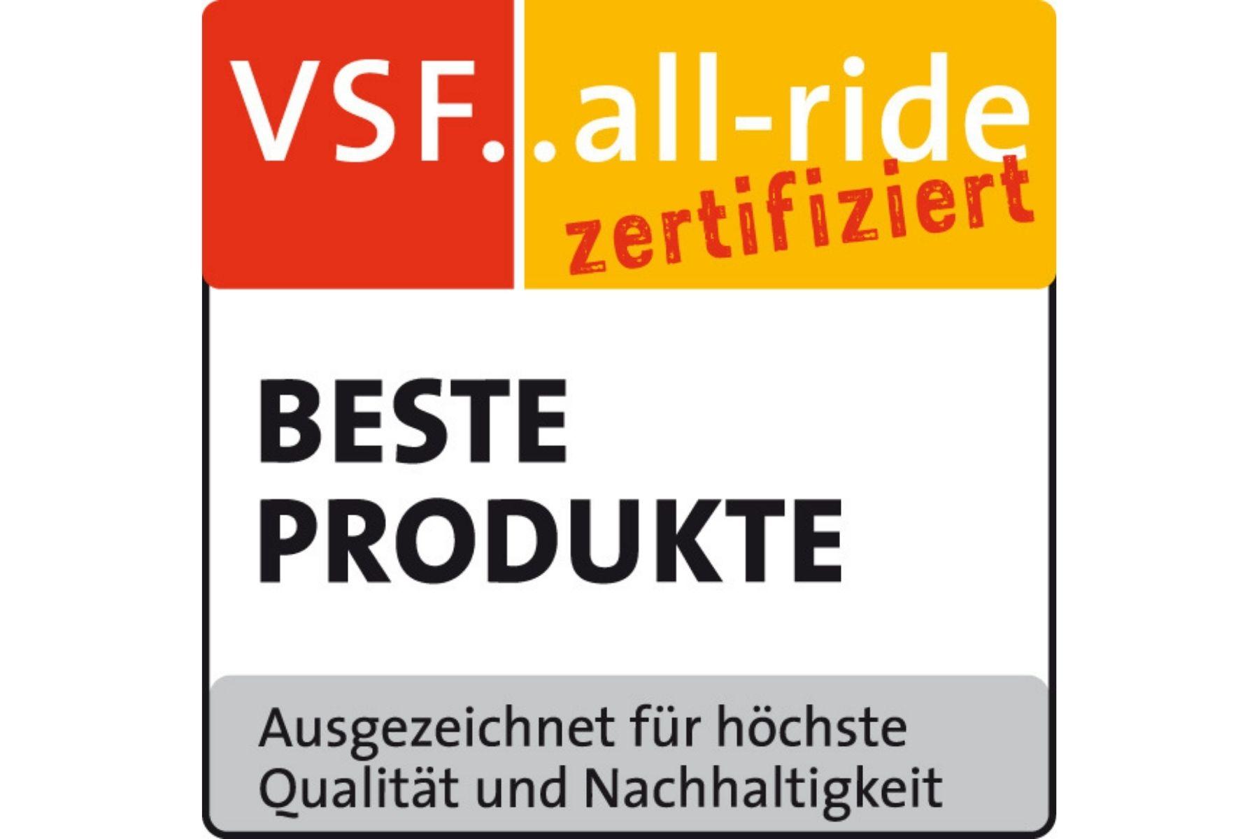 Acht Hersteller wurden von VSF ausgezeichnet