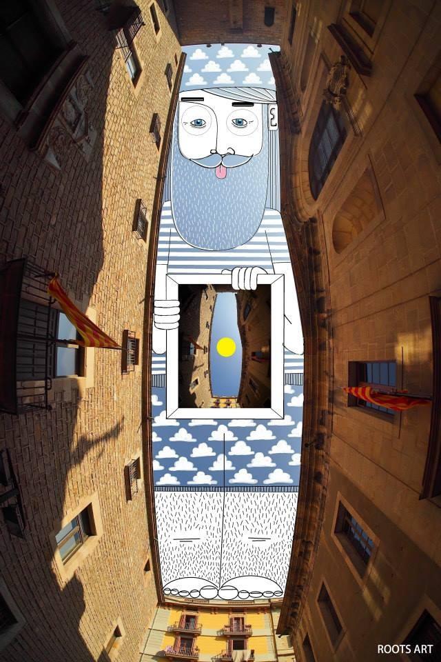 SkyArt Barcelona Espagne 2014