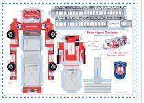 Bastelbogen Feuerwehrauto