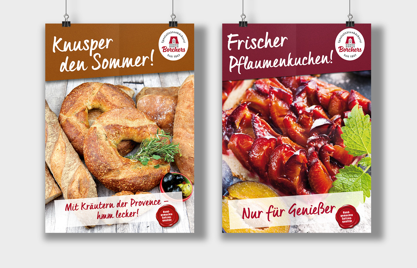 Poster, Bäckerei Borchers, Hannover