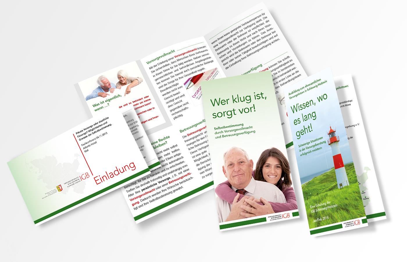 Flyer und Einladung, IGB (Interessengemeinschaft Betreuungsvereine Schleswig-Holstein)