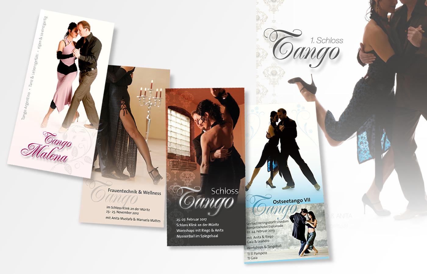 Veranstaltungsflyer, Tango Malena
