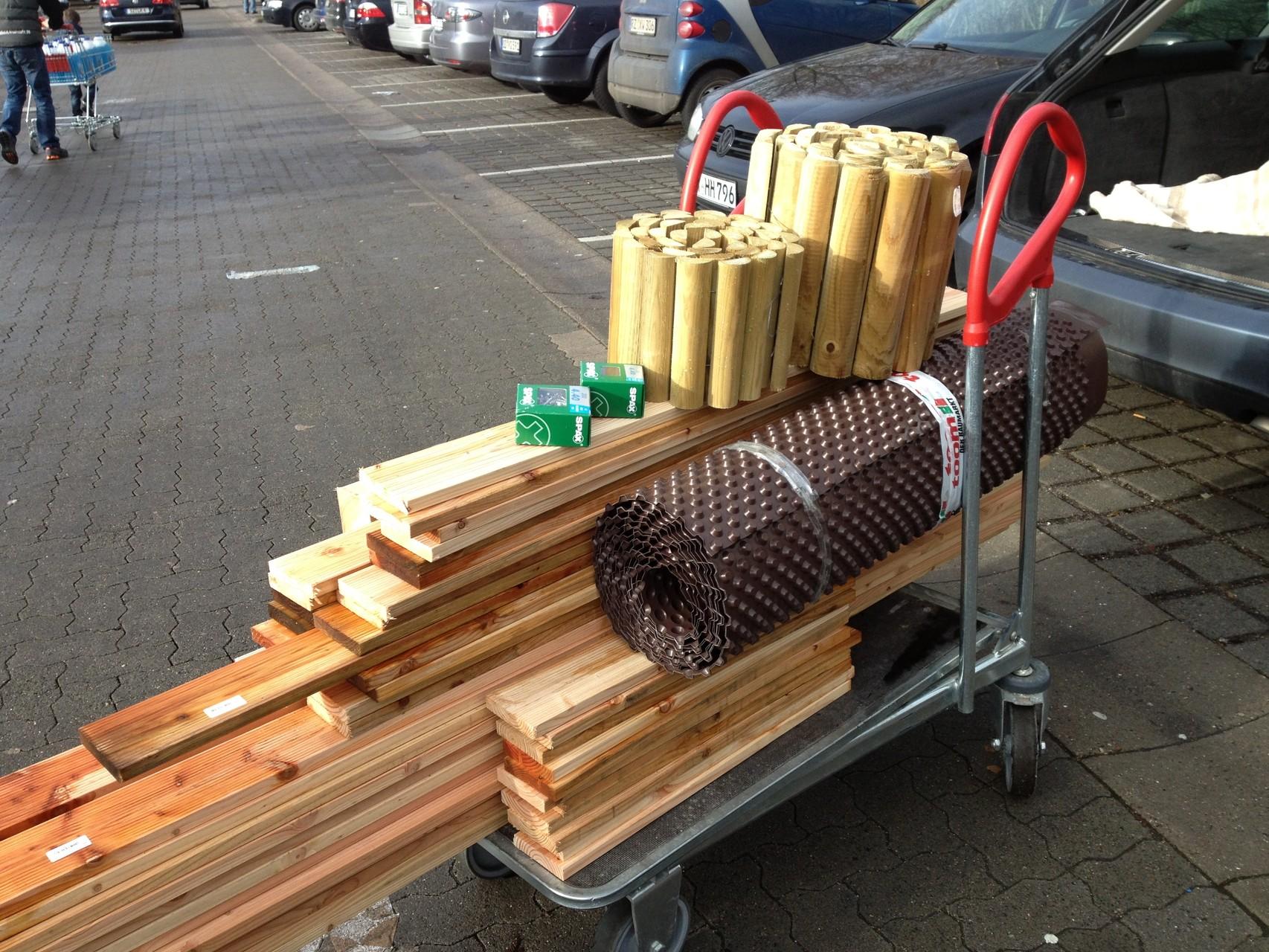 Küchengarten-Box: Baumaterial aus dem Baumarkt