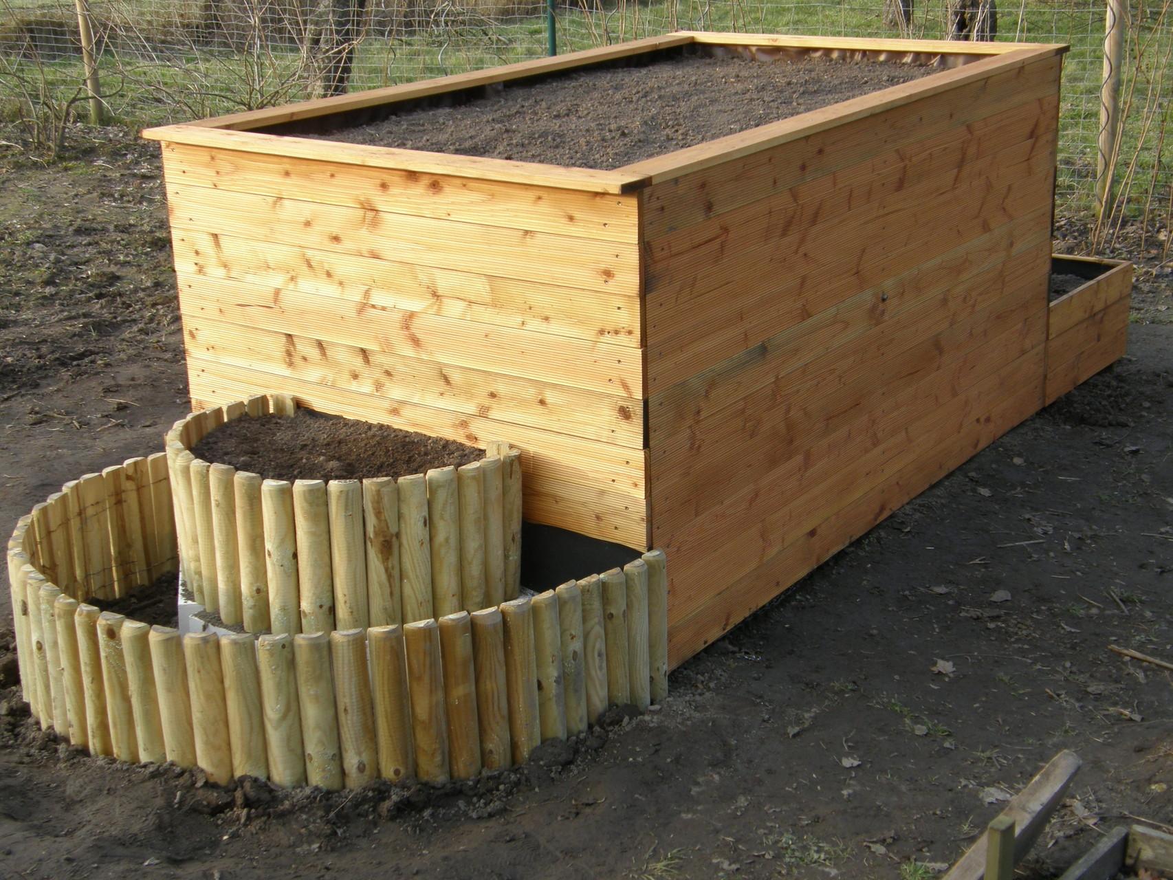 Jetzt ist die Küchengartenbox fertig zum Bepflanzen