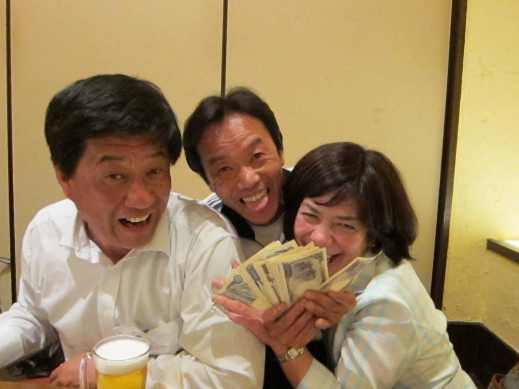 「アタシ大金持ちの娘なの」と大盤振る舞いの菅さん。