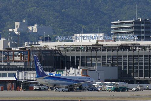 伊丹スカイパークから眺めた伊丹空港。