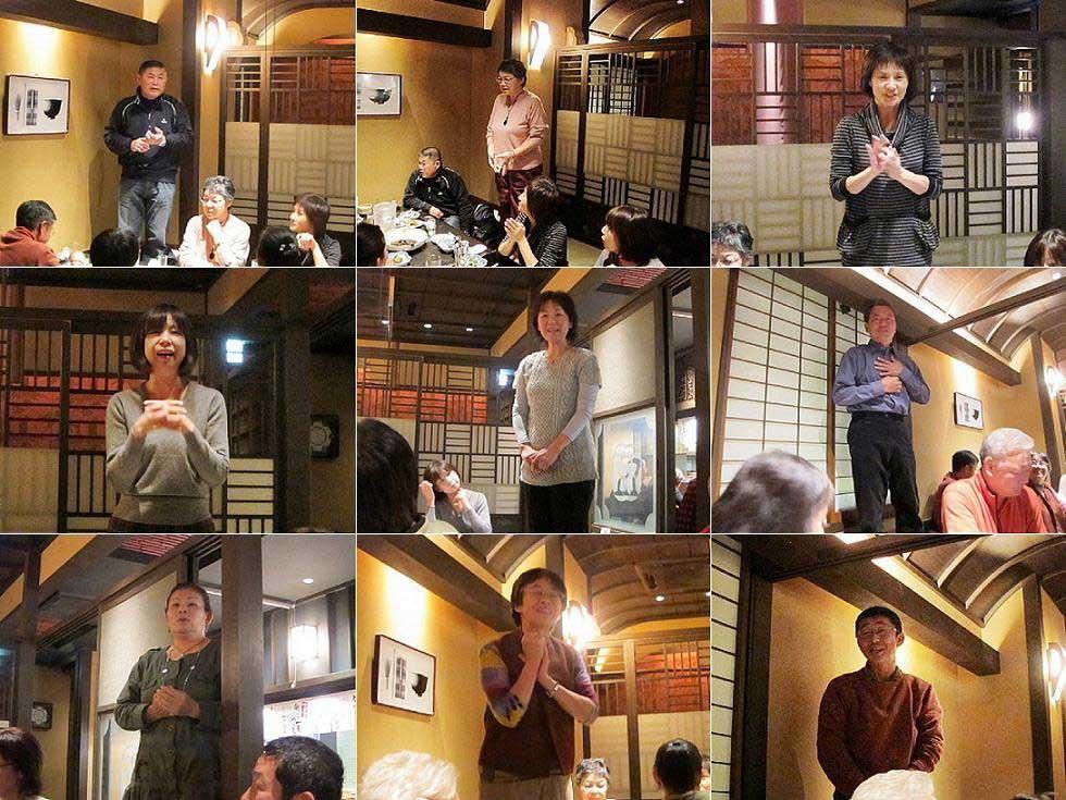 お約束の儀式 自己紹介からはじまりはじまり。中段左は初参戦の山本さん