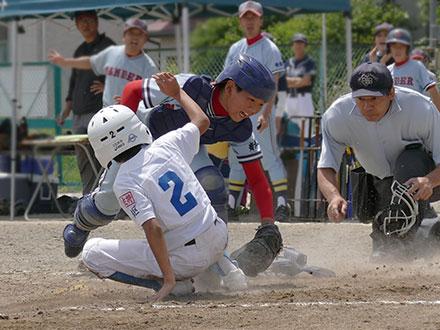 二塁から一気生還。
