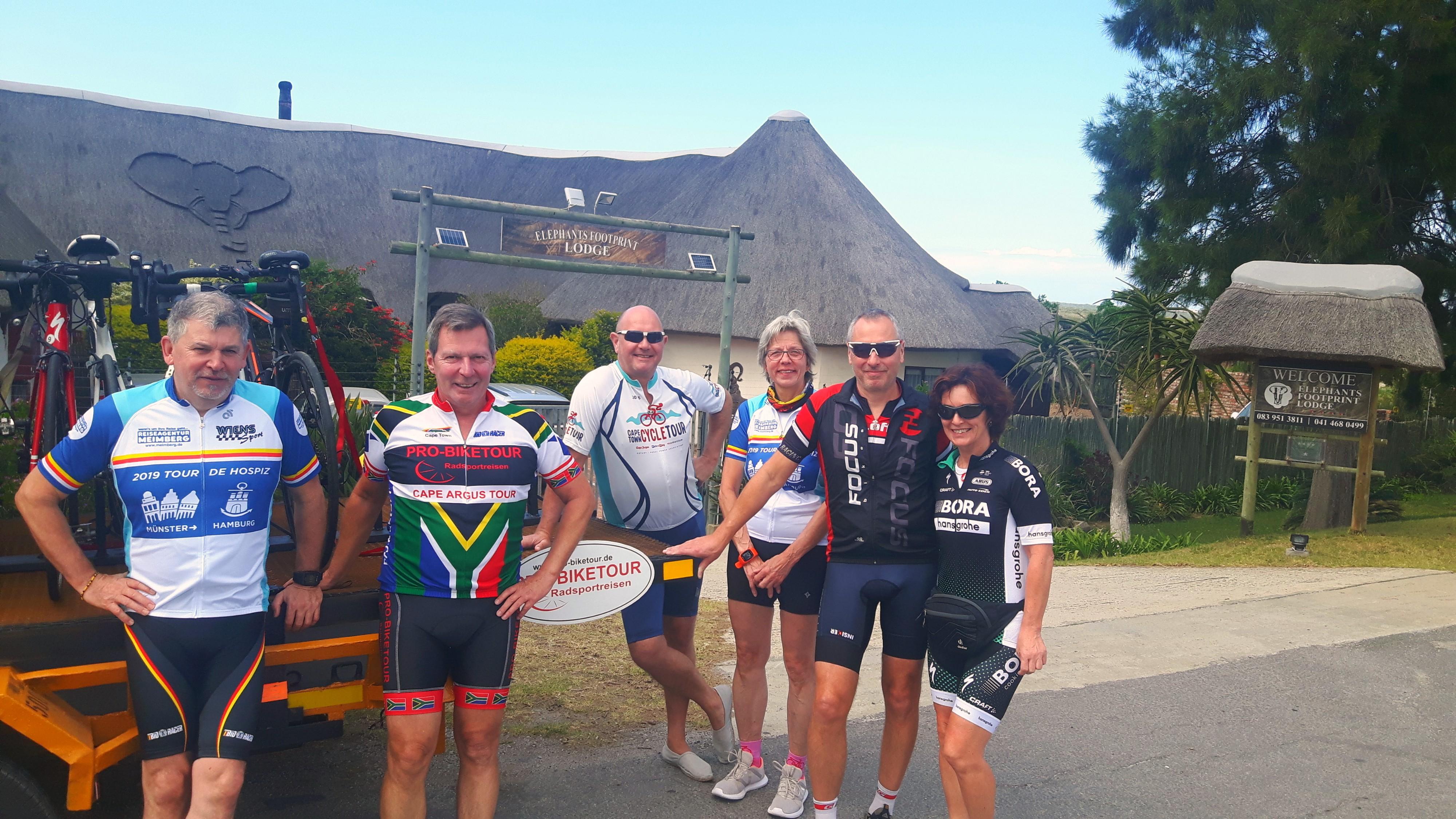 Herausforderungen gemeinsam meistern - auf der Garden Route Radreise 2019 durch Südafrika