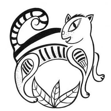 Logo für eine Tierheilpraxis (Federzeichnung/Tusche)