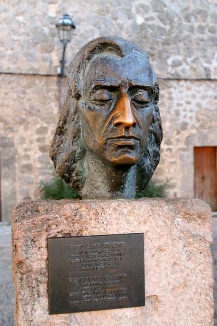 Büste Chopin am Kartäuserkloster von Valldemossa
