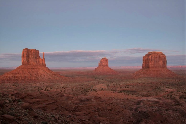Sonnenuntergang am Monument Valley