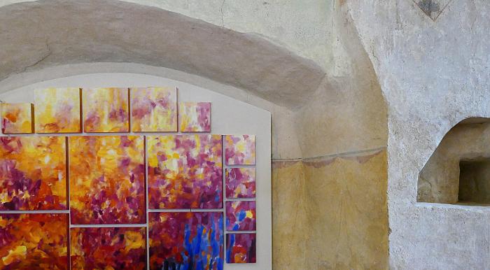 Sylvie Lander/ Exposition/ Anges : entre ciel et terre, Chapelle Sainte-Marguerite, Epfig, 2019 ©sylvie lander
