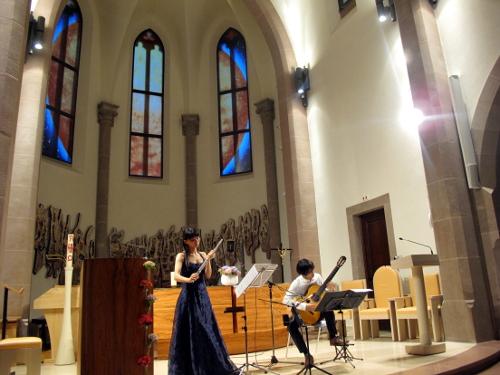 Kaori Wakabayashi et Hiroshi Kogure, concert Gerstheim 2015