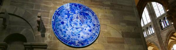 Sylvie Lander-vitraux-tondo de verre-cathedrale de Strasbourg