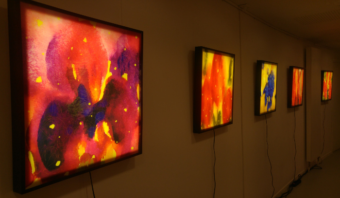 Sylvie Lander-exposition-vitraux-fleurs-jardins-couleurs #Sylvie Lander
