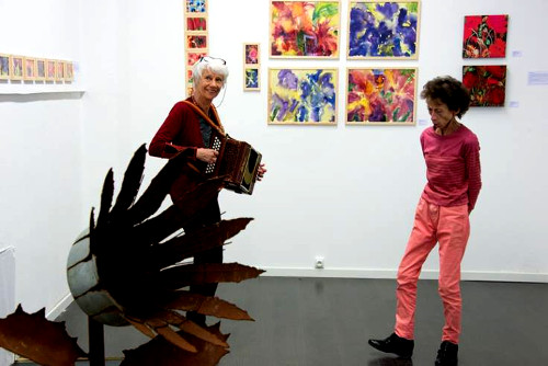 Exposition-Sylvie Lander-peinture-Galerie Art'Course
