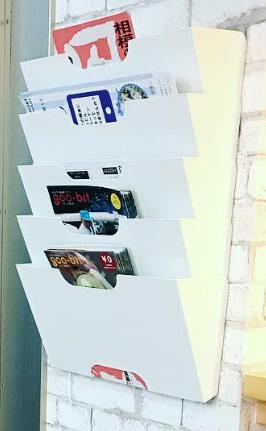 パワーウォッシュ麻溝台さまの壁掛けラックには、goo-bit第3号と第4号が設置されています。