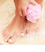 Füße im Bad