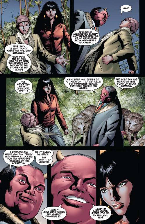 Vampirella #13 — Page 8 (Script: Trautmann / Art: Malaga)