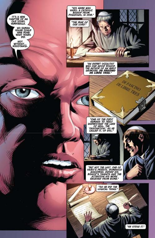 Vampirella #13 — Page 6 (Script: Trautmann / Art: Malaga)