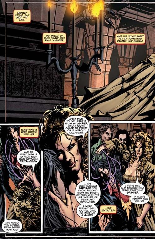 Vampirella #2, page 2. (Script: Trautmann; Art: Reis; Colors: Inlight Studios; Lettering: Dillon.)