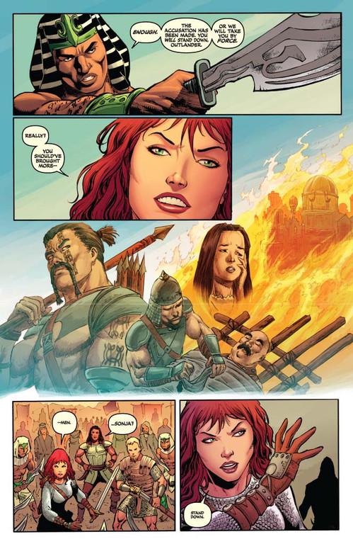 Red Sonja #62 - page 4 (script: Trautmann / art: Geovani)