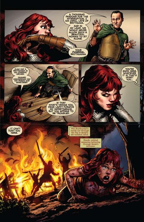 Red Sonja #55 - page 5 (script: Trautmann / art: Berkenkotter)